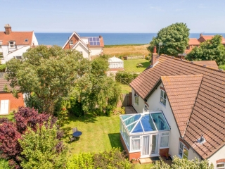 Overcliff Lodge, Mundesley, Norfolk. View to the sea.