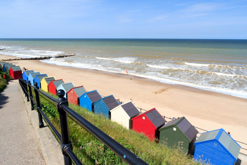 Mundesley's colourful Beach Huts