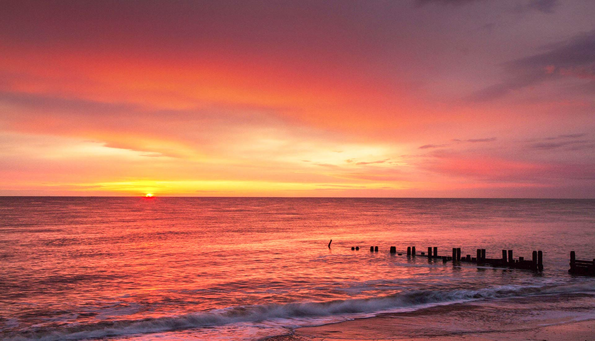 Sunrise at Mundesley Beach, North Norfolk